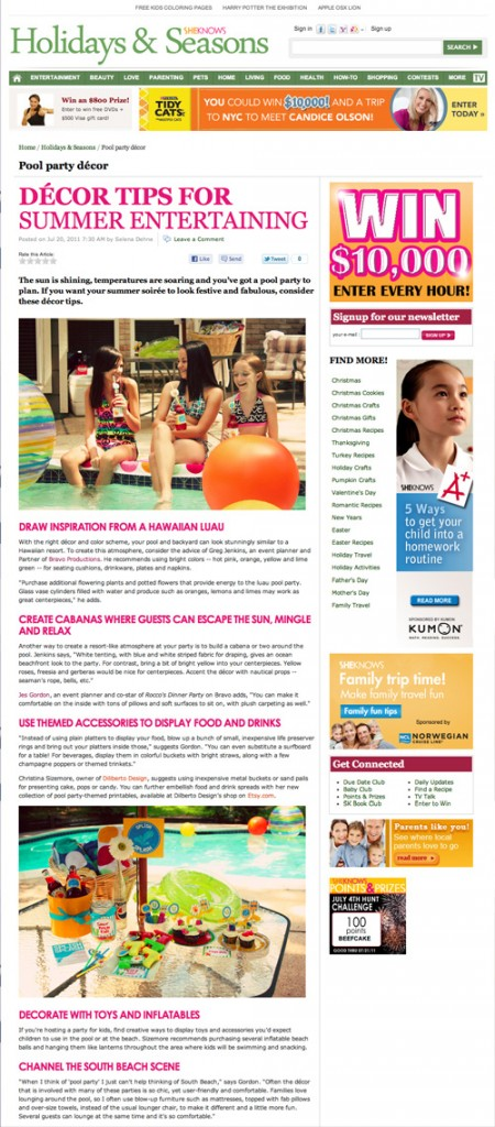 diliberto photo and design pool party printable coverage in sheknows