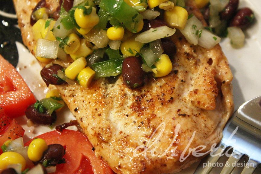 salmon With Corn and Black Bean Salsa from diliberto photo and design