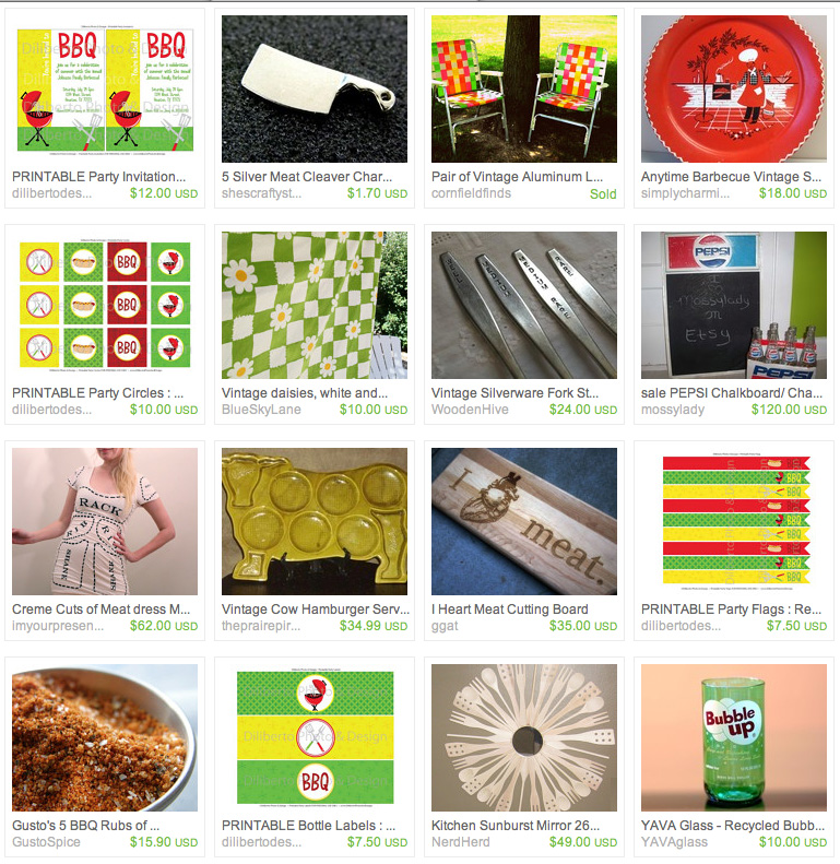 Diliberto Photo And Design Retro BBQ Party Printable Etsy Treasury