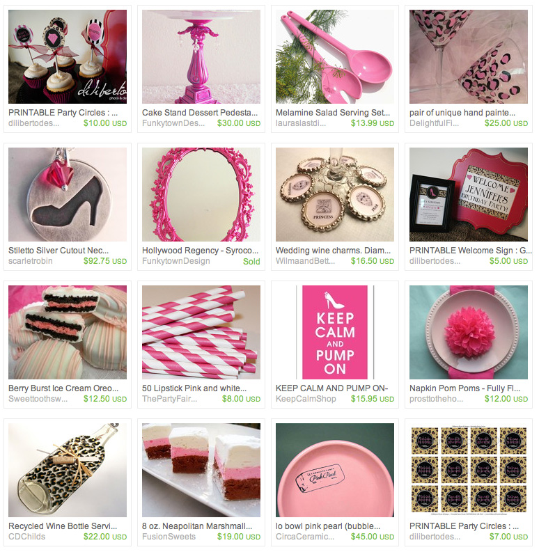 Glam Birthday Party Printables from Diliberto Photo And Design Etsy Treasury