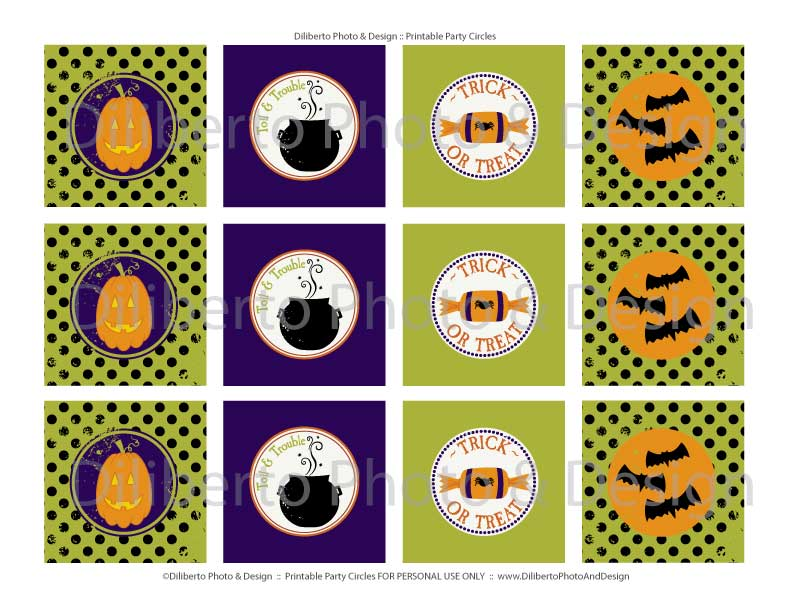 Diliberto Photo & Design Blog Houston Halloween Party Printable, Cupcake Toppers