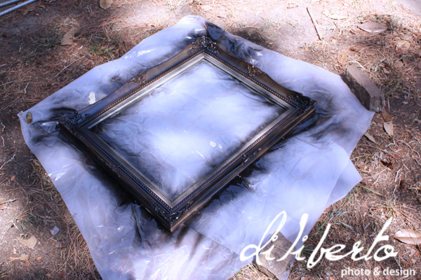 Diliberto Photo and Design- How to repaint an antique gold frame