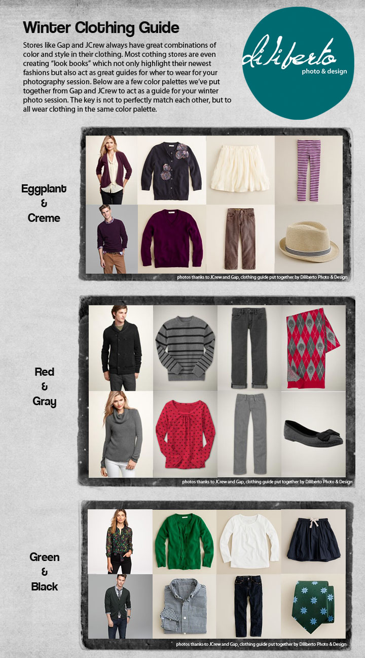 Diliberto Photo and Design Winter What to Wear Photography Session Clothing Guide