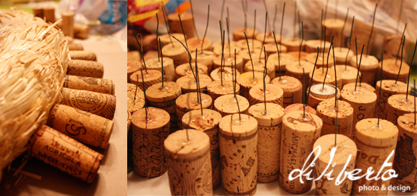 Making a wine cork wreath