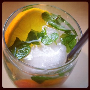 Orange and Mint Infused Water