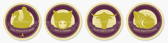 Custom Party Food Labels