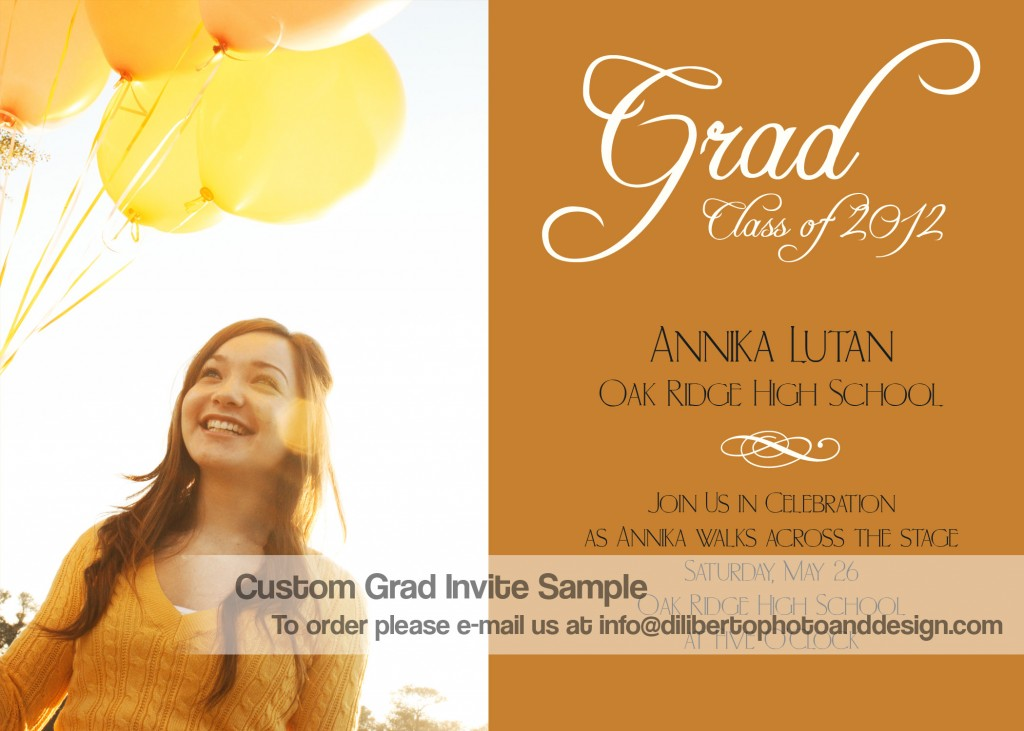 Custom Graduation Invitation