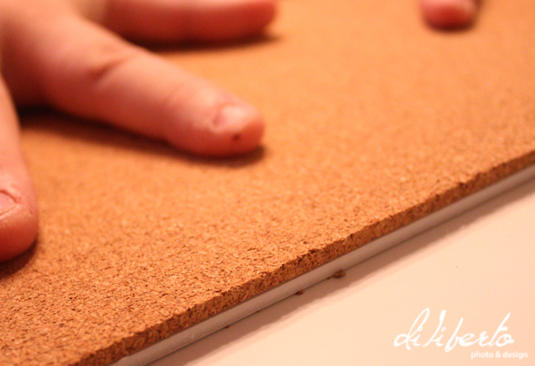 how to make a fabric covered cork board