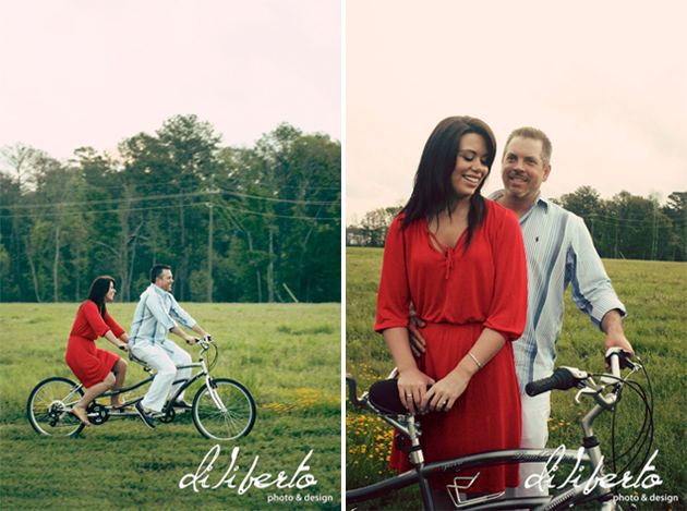 Tandem Bike Engagement Photos