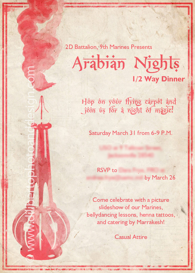 Custom Invitation Design Arabian Nights