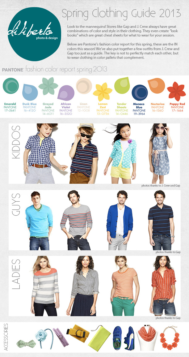 Spring Photos Clothing Guide 2013