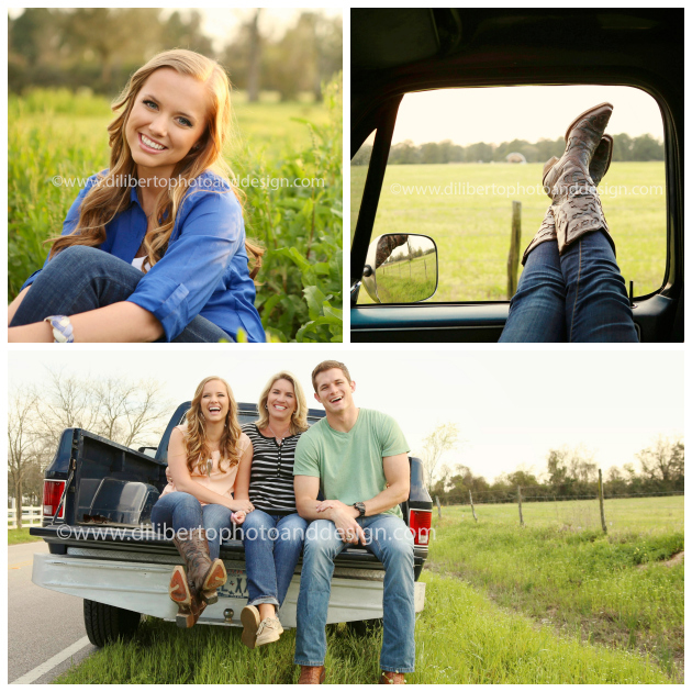 Senior Photography Spring, Texas Classic Truck
