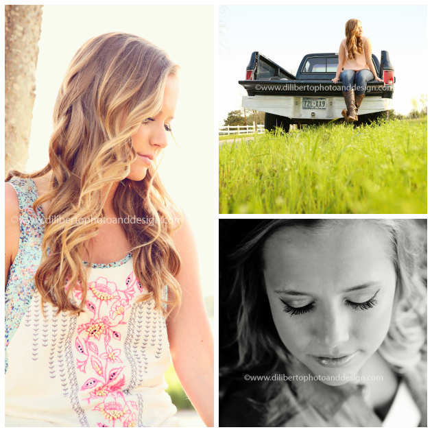 Rustic Senior Photos in Spring Texas, Vintage Truck