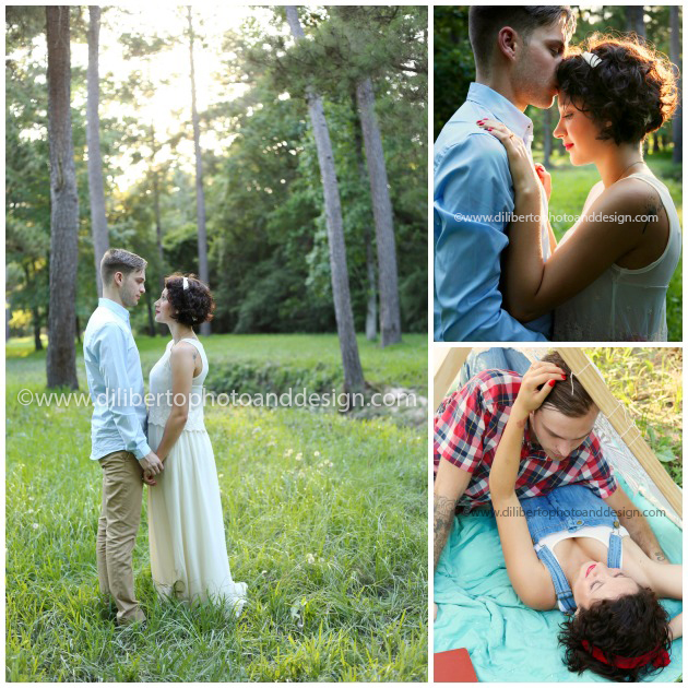 Woods Engagement Photography Session Spring, Texas