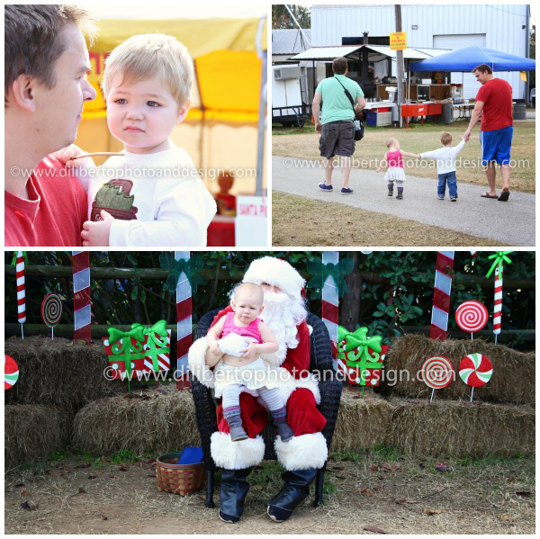 christmas tree farm and santa