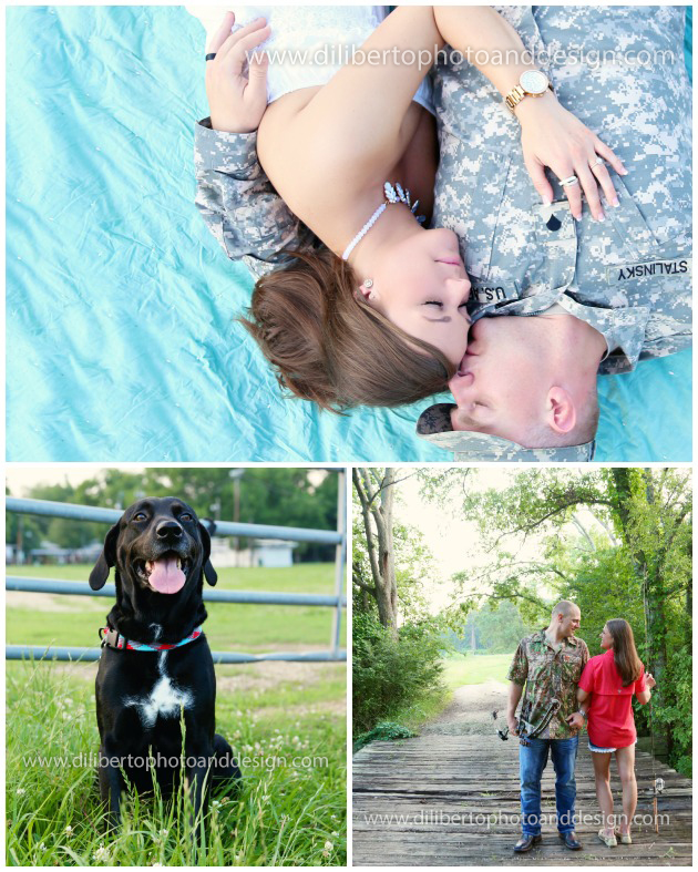 Engagement Photos with Dog Spring TX
